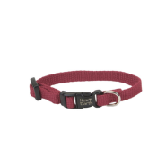 "New Earth Soy Adj Collar 3/8""x8"" Cranberry"