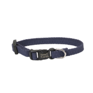 "New Earth Soy Adj Collar 3/8""x8"" Indigo"