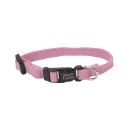 "New Earth Soy Adj Collar 3/8""x8"" Rose"