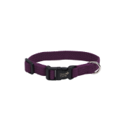 "New Earth Soy Adjustable Collar 3/8 x 6-8"" Eggplant"