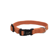 "New Earth Soy Adjustable Collar 3/8 x 6-8"" Pumpkin"