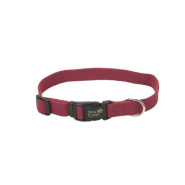 "New Earth Soy Adj Collar 5/8""x12"" Cranberry"