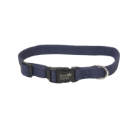 "New Earth Soy Adj Collar 5/8""x12"" Indigo"