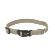 "New Earth Soy Adj Collar 5/8""x12"" Olive"