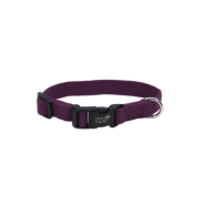 "New Earth Soy Adjustable Collar 5/8 x 8-12"" Eggplant"