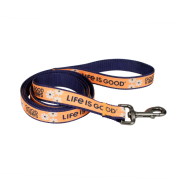 "Life is Good Dog Canvas Leash 5/8""x6"