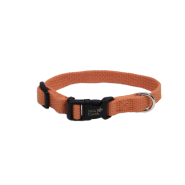 "New Earth Soy Adjustable Collar 3/4 x 12-18"" Pumpkin"