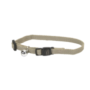 "New Earth Soy Adj Bkwy Cat Collar 12"" Olive"