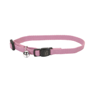 "New Earth Soy Adj Bkwy Cat Collar 12"" Rose"