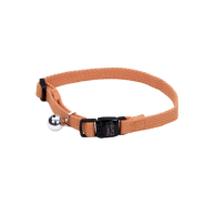 "New Earth Soy Adj Bkwy Cat Collar 12"" Pumpkin"