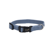 "New Earth Soy Adjustable Collar 1 x 18-26"" Slate"