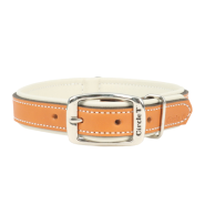 "Circle T Double-Ply Leather Collar 3/4""x16"" Tan & Cream"