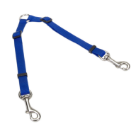 "2 Dog Adjustable Coupler 3/8 x 18"" - 24"" Blue"