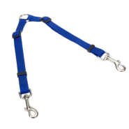 "2 Dog Adjustable Coupler 3/4 x 24"" - 36"" Blue"