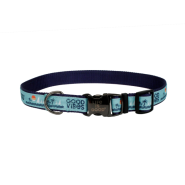 "Life is Good Dog Canvas Collar 1""x18-26"" Blue GoodVibes"