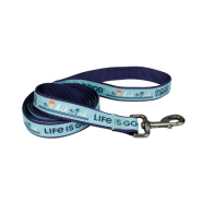"Life is Good Dog Canvas Leash 1""x6"