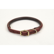 CircleT Latigo Leather Round Collar w/Brass 3/8x12""