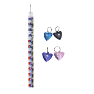Heart Cat Bells 2 Pk Clip Strip