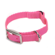 Nylon Safety Cat Collar Bright Pink 10""