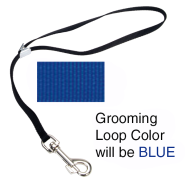 "Adjustable Nylon Grooming Loop 3/8x18"" Blue"