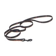 "HD Nyl Leash 3/8""x4"" Logo with Flames"
