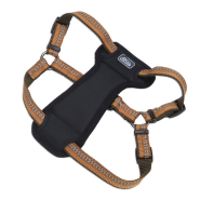 "K9 Explorer Reflective Adj Padded Harness 5/8x12-18"" Orange"