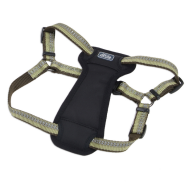 "K9 Explorer Reflective Adj Padded Harness 5/8x12-18"" Fern"