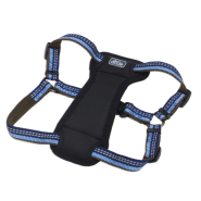 "K9 Explorer Reflective Adj Padded Harness 5/8x12-18"" Sapphre"