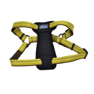 "K9 Explorer Reflective Adj Padded Harness 1x20-30"" Goldenrod"