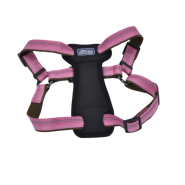 "K9 Explorer Reflective Adj Padded Harness 1x20-30"" Rosebud"