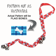Advance Dog Potty Training Bells Plaid Bones