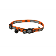 "HD Cat Adj Bkwy Collar 12"" Orange Bar"