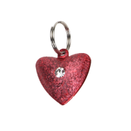 Frosted Designer Cat Bells 1 Bell Heart