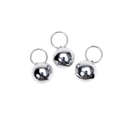 Coastal Dog Round Bells Silver 3 pk
