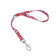 "Pet Attire Adj Grooming Loop BoltSnap 5/8x24"" Red Bones"