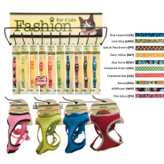 SafeCat Collars w/Harness & Leash Combo Display