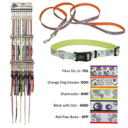 Lazer Brite Collar & 6ft Leash Display 5 patterns