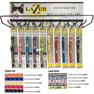 Reflective Cat Collar Display 5 patterns for 46741