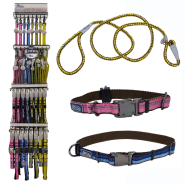 K9 Explorer Four Color All-Inclusive Collar & Leash Display