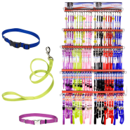 Six Color Collar & Leash Display 6 colors