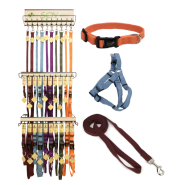New Earth Soy Collar and Leash Display 5 colors/6 types