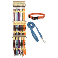 New Earth Soy Collar and Leash Display 5 colors/5 types