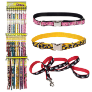 Pet Attire Ribbon Collar with 4ft Leash Display 5