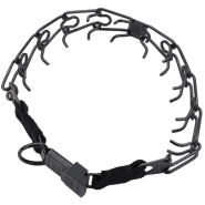 HS Blk Stainless Prong Training Collar w/ClicLock 2.25mm