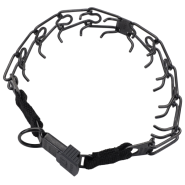 HS Blk Stainless Prong Training Collar w/ClicLock 3.25mm