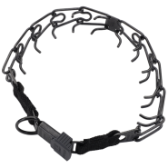 HS Blk Stainless Prong Training Collar w/ClicLock 4mm