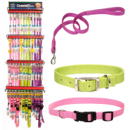 Coastal Nylon Dog Collar and Leash Displays 3 Colors