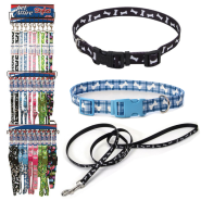 Pet Attire Styles Collar & 6 ft Leash 3 Tier Display