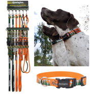 Remington Reflective Adj. Collar & Leash Display