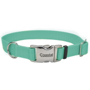 Coastal Adj. Collar w/Metal Buckle Teal 5/8x10-14""